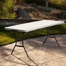 lifetime folding tables 6 lifetime 6 fold in half table white granite walmart com