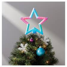 Color Changing Christmas Trees - 12 5 u0027 u0027 lit color changing star tree topper red green blue
