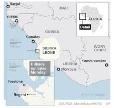 Map Of Sierra Leone Sierra Leone Prepares For Mass Funerals After Mudslides The