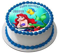 edible images for cakes ariel the mermaid edible cake topper cupcake toppers