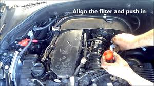 bmw 520d diesel fuel air oil filter change service and reset f10