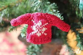 mini sweater ornaments for