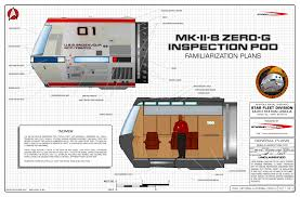Star trek blueprints mk ii b zero g inspection travel pod