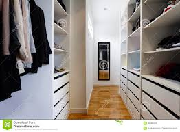 contemporary walk in wardrobe royalty free stock images image