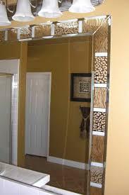 how to decorate bathroom mirror decorative mirrors sans soucie art glass
