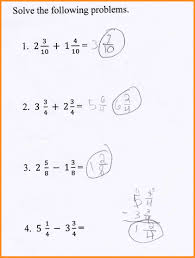 Subtracting Mixed Fractions Worksheets 8 Add And Subtract Mixed Numbers Lvn Resume