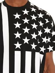 Black American Flag Shirt Lyst Givenchy Baby U0027s Breath Flag T Shirt In Black For Men