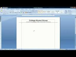 How To Use Resume Template In Word 2007 How To Make A Template In Microsoft Word 2007 Youtube