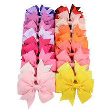 hair bows for sale 40pcs 40 colors ribbon bows hairpin girl s hair bows