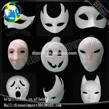 paper halloween mask white pulp diy hand painted zorro pumpkin crown blank masquerade
