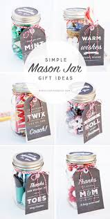 simple mason jar gifts with printable tags printable tags gift