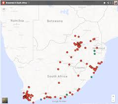 Map South Africa The Ultimate South African Craft Beer Map