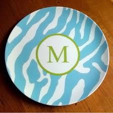 personalized melamine platter personalized melamine plate by clairebella monogrammed gifts