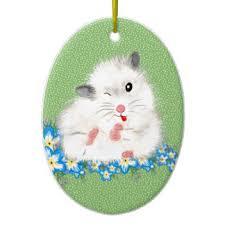 white hamster ornaments keepsake ornaments zazzle