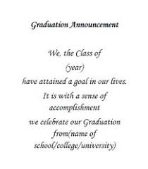 graduation announcement wording graduation free suggested wording by theme geographics