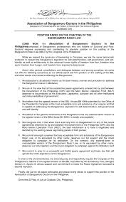 we all recognize that the position paper re bbl by bangsamoro transition commission issuu