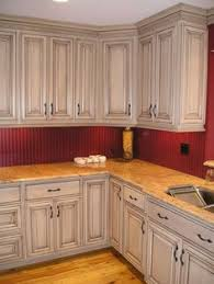 Kitchen Cabinet Glaze Antique White Kitchen Cabinets After Glazing Jpg Home Living