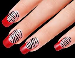 zebra pattern nail art how to do zebra print nails at home