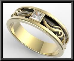 mens princess cut diamonds wedding ring vidar jewelry unique mens 2 tone gold wedding ring vidar jewelry unique custom