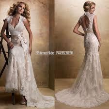 vintage satin wedding dresses