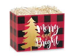 christmas basket small buffalo plaid christmas basket boxes 6 3 4x4x5 bpcs