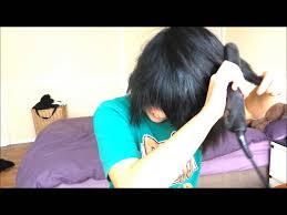 messy emo scene hairstyle for short hair youtube