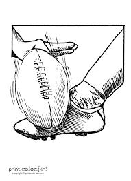 kicking a football coloring page print color fun