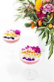 edible flower rainbow sour cocktail recipe sugar u0026 cloth