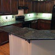groutless tile backsplash kitchen contemporary with hardwood