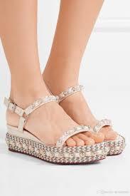 luxury women shoes bridal red bottom sandals high heels cataconico