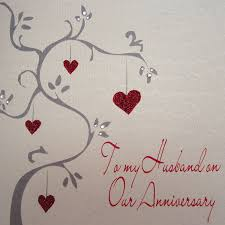anniversary cards white cotton cards wb217 to my husband on our anniversary
