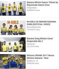 Minions Banana Meme - dopl3r com memes banana minion dance tribute by rejuvenate