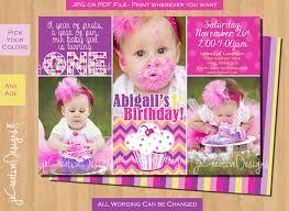 baby first birthday cupcake invitation lil cupcake birthday