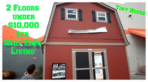 two story tiny house under 10 000 2 floor shed house for debt free living no upgrades