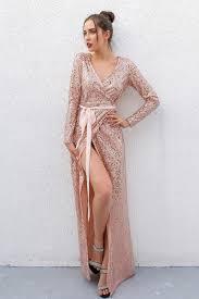 party dress joyfunear club wear party dress womens pink gold knot v