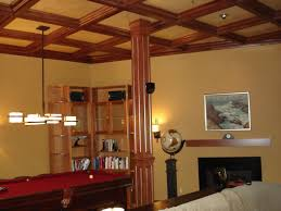 basement bars woodgrid coffered ceilings by midwestern wood