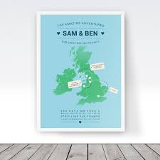 Personalised World Map Pinboard by Personalised Map Of The Uk England Travel Map Custom Britain
