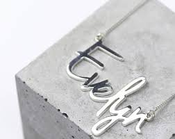 name necklace silver silver name necklace etsy