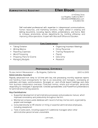 Administration Sample Resume by Administrative Assistant Sample Resume Berathen Com