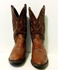 womens boots size 11 1 2 womens boots dan post brown stitched cowboy or boots mens