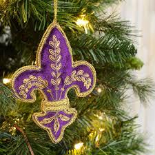 zardozi fleur de lis ornament purple mardigrasoutlet