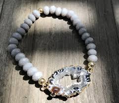 bracelet elastic images Black geode elastic bracelet 38 raptorjewelry jpeg