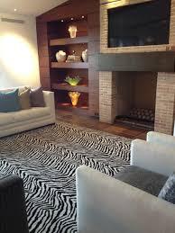 Zebra Area Rug Kenya Zebra Area Rug Contemporary Living Room Orange County