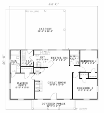 Floor Plan Of Home by Ranch Style House Plan 3 Beds 2 Baths 1100 Sq Ft Plan 17 1162