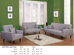 Armchair Sofa Beds Oxford Contemporary Loveseat Light Grey At Home Usa Modern