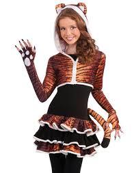 Wild Cat Halloween Costume Young Girls Cute Tigress Kitty Cat Tween Animal Teen Halloween