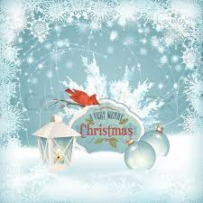 vector christmas snow background xmas winter scene with red bird