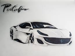 car ferrari drawing ferrari portofino god kid draw to drive