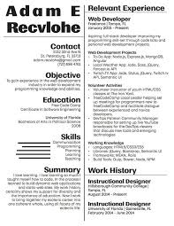 Resume Web Development Resume by How To Write A Web Developer Resume Quora