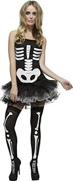 skeleton costume womens smiffy s women s fever skeleton costume clothing